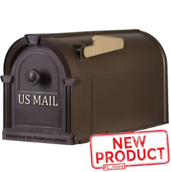 Large Post Mount Mailbox Hampton Bronze Durable Postal US MAIL Plastic No Rust $23.29