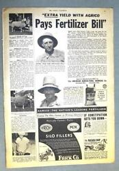 Original 1940 AGRICO Ad Features Ralph Hilderbrand Wyandot Couty Ohio $9.95