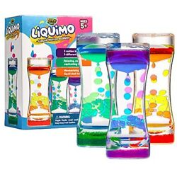 Liquimo - Liquid Motion Bubbler For Kids And Adults 3-Pack Hourglass Sensory Toy $26.93
