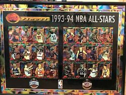 Topps Finest 1993 1994 NBA All Star Set Uncut Framed Sheet $31.50