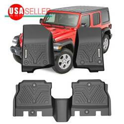 Floor Mats All Weather for 2018 2019 2020 2021 Jeep Wrangler JL 4Dr Front amp; Rear $79.19