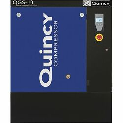 Quincy QGS-10 Rotary Screw Compressor- 39.6CFM125PSI 208230460V