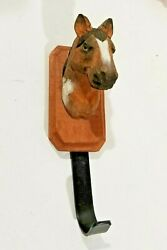 Carved wooden horse head Western hanging hook decoration wall mounted hook $22.99