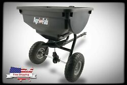 85 Lb Behind Broadcast Spreader Tow Hopper Fertilizer Seed Atv Lawn Tractor Pull $108.99