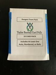 Baseball Card Mystery Team Select Pack Guaranteed Auto #rd or relic card!!!!!! $14.99