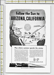 Southern Pacific Lines railway trains 1940 magazine print ad $11.99