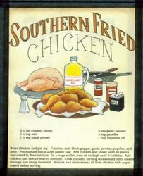 Retro Vintage Country Kitchen SOUTHERN FRIED CHICKEN RECIPE Wall Decor wood Sign $11.99