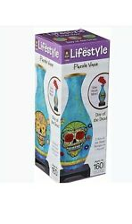 3D Lifetsyle Puzzle Vase Day of the Dead New Sealed Useable Vase! NEW 160 Piece $17.95