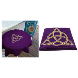 Retro Velvet Tarot Cloth for Tarot Cards Playing Cards Parts Purple 80x80 $16.62