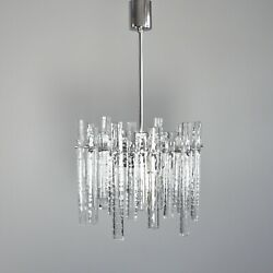 Kinkeldey Ice Glass Chandelier 36 Ice Glass Elements Chrome 5.Z