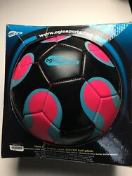 OGLO Sports Soccer Ball Glow in The Dark Pink Black Size 4 NEW $25.80