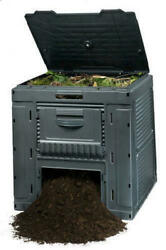 Large Square Resin E Composter 120 Gallon Compost Bin Garden Backyard Recycling $134.99