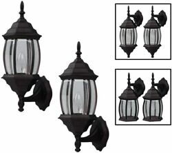 Outdoor Exterior Wall Lantern Light Fixture Twin Pack Oil Rubbed Bronze