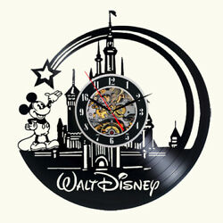Disney Mickey Mouse Vinyl Wall Clock Record Gift Decor Art Poster Sing Feast Day $15.99