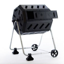 FCMP Outdoor IM4000 WK 37 Gal Dual Chamber Quick Curing Tumbling Composter Bin $129.99