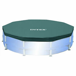 Intex 10 Foot Round Easy Set Outdoor Backyard Swimming Pool Cover Blue $42.89
