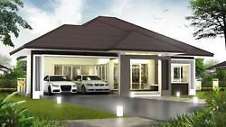Custom 3 Bedroom amp; 2 Bathroom House Home Building Plans With Grage AUTO CAD File $9.99