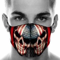 1PC Face Mask Reusable Washable Mouth Cover Unisex Adult - USA American Flag $14.95