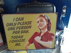 Retro Decor Comical Funny Humorous Signs Placque New Vintage Style Quotes $45.00