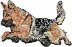 2 1 8quot; x 4quot; Jumping German Shepherd Dog Breed Embroidered Patch $3.99
