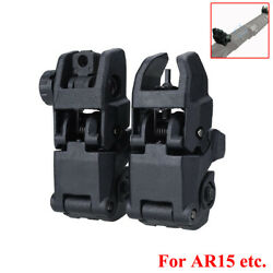 20mm Premium Pair Flip-up Tactical Sights Folding Sight Front and Rear Set $14.79
