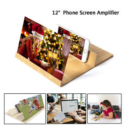 3D Folding Enlarge Screen Magnifier Amplifier Mobile Phone HD Stand Universal $10.99