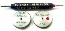 M1.6 6g Thread Ring Gage HSS Set Go amp; No Go Plus wear check plug $475.00