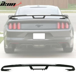 Fits 15-20 Ford Mustang 2018+ Performance Pack Style Trunk Spoiler Gloss Black $249.99