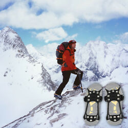 Non slip Snow Cleats Shoes Boots Cover Step Ice Spikes Grips Crampons For Hiking $11.45