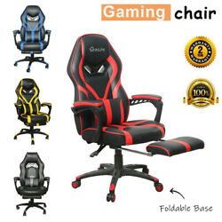 Gaming Chair Racing Ergonomic Recliner Office Computer Desk Seat Swivel Footrest $156.99