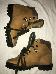 VINTAGE Tecnica Trekking Hiking Boots Womens 8 Used Good Condition Brown $50.00