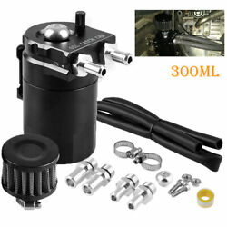 Oil Catch Reservoir Breather Can Tank & Air Filter Kit Cylinder Aluminum Engines