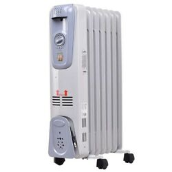 Topbuy 1500W Oil Filled Radiator Thermostat Radiant Electric Room Space Heater $62.95