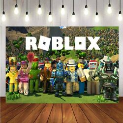 Roblox Photography Backdrop Children Birthday Party Kids Photo Background Banner $8.99