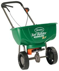 Broadcast Fertilizer Spreader Rolling Yard Lawn Work Healthy Green Grass $76.32