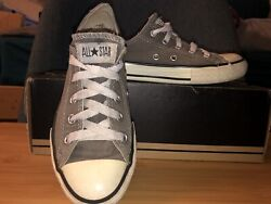Light Grey Low Top Converse All Star Youth Size 13 $10.00