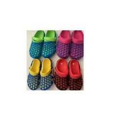 New youth kids boys girls navy red pink solid colors comfortable clogs slippers $10.99
