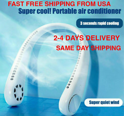 Neck Fan Portable Personal Cooling Hanging Around Neck Wearable Lazy Neckband 🥶 $39.99