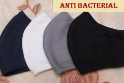4 10 Pack Fabric Face Mask 2 layers Washable White Black Gray Navy $10.20