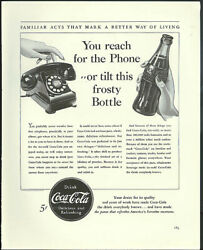 You reach for the phone or tilt this frosty Bottle Coca-Cola ad 1940 Fortune $9.99