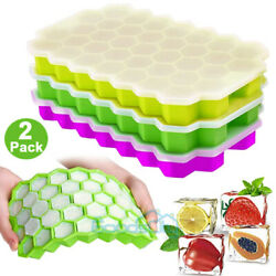74 Case Silicone ICE Cube Tray Maker Mold Cocktails Whiskey 2 Pack $11.97