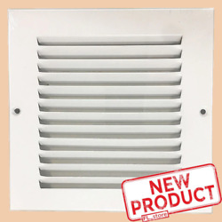 6 x 6quot; Air Return Vent Cover Duct Size Grille Steel Wall Sidewall Ceiling White $11.23