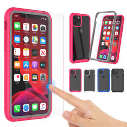 For iPhone 11 11 Pro Max Clear Case With Built in Screen Protector Cute Cover $6.98