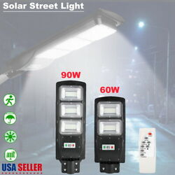 60 90W Outdoor Commercial LED Solar Street Light IP65 Dusk Dawn PIR Sensor Lamp