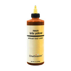 Chefmaster 9 Ounce Neon Brite Yellow Airbrush Cake Decorating Food Color $11.56