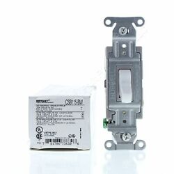 Bryant White COMMERCIAL Grade Toggle Wall Light Switch Single Pole 15A CSB115-BW $4.75