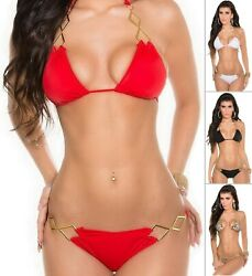 KouCla 2HOT2HANDLE Women#x27;s Top amp; Bottom Swimwear Swimsuit Bikini Set S M L XL $12.99