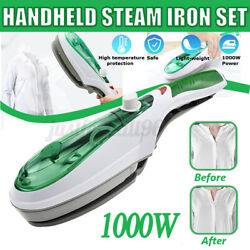 1000W Electric Steam Iron Hand Handheld Fabric Laundry Steamer Brush Travel USA $20.99