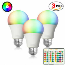 3pcs E26 RGB RGBW LED Light Bulb Multi Color Changing Magic Lamp Remote Control  $10.88