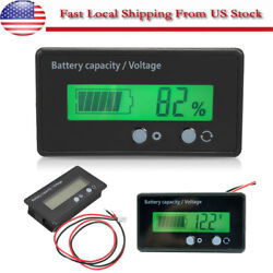 Acid Lead Lithium Battery Capacity Indicator Voltage Meter Tester LCD Display $7.99